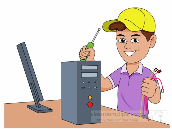 Computer tech clipart.