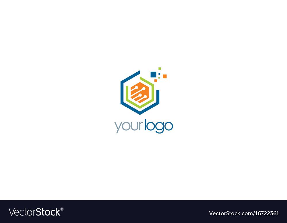 Polygon data digital technology logo.