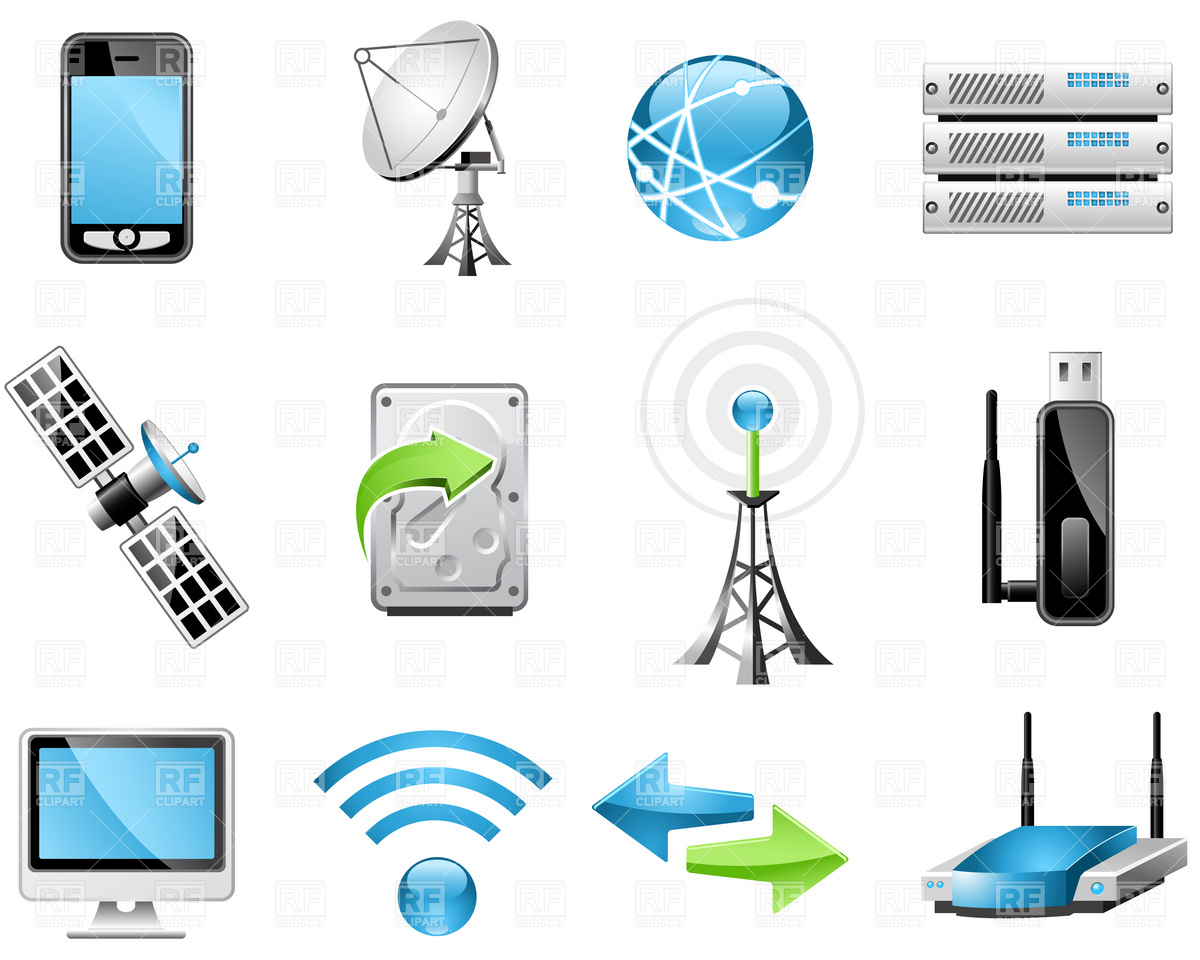 Technology Icons Clipart.