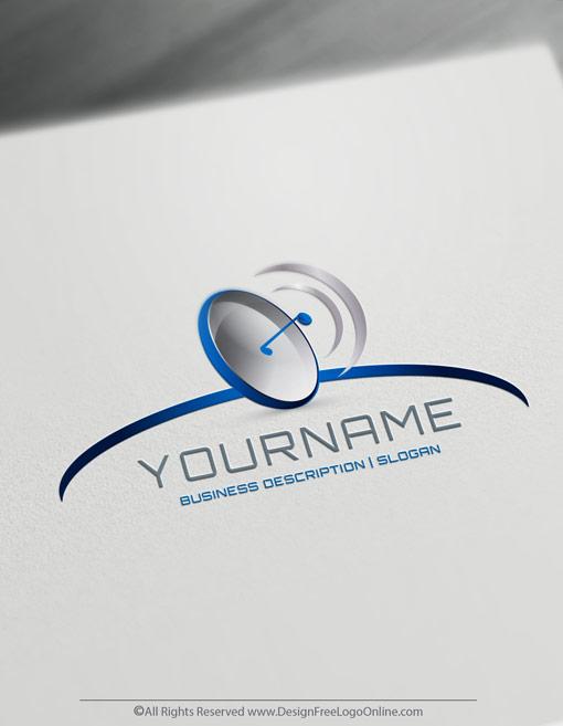 Online Technology Logo Maker.