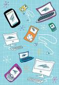 Clip Art of Tech devices icons set illustration k5558118.