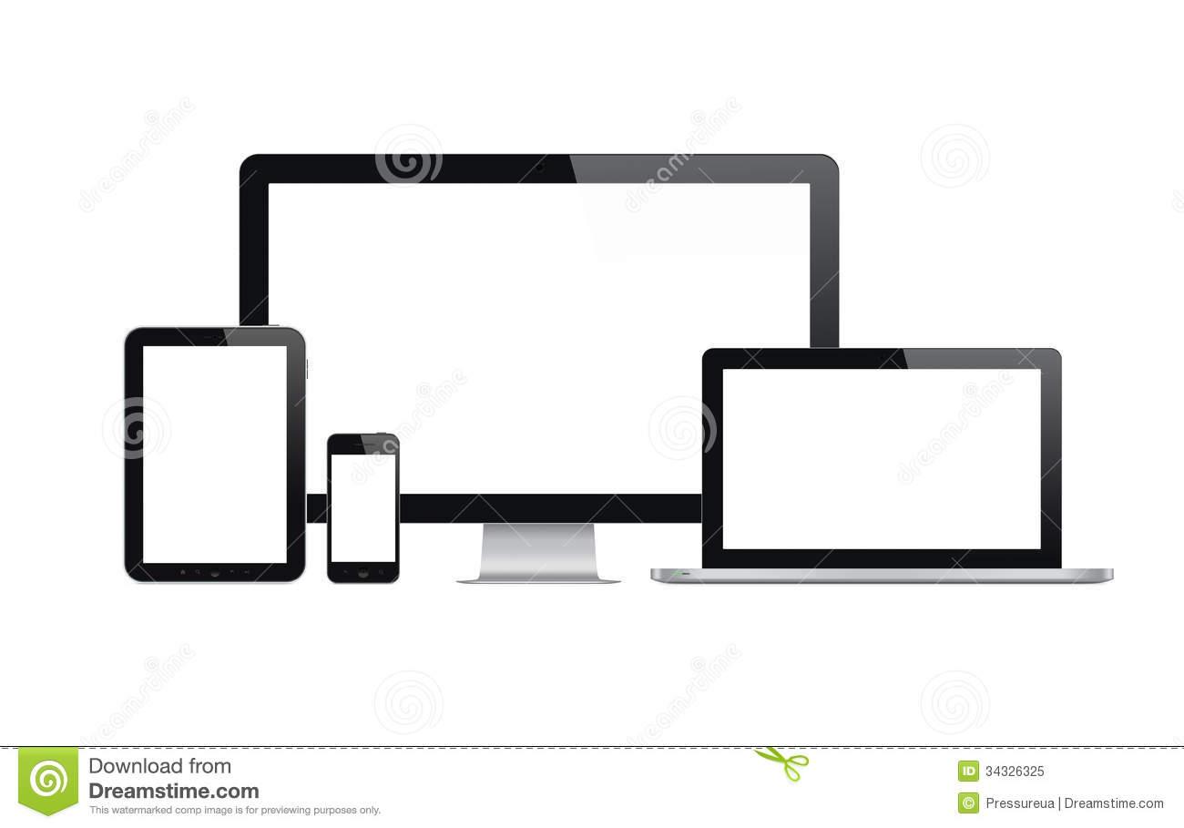 Devices Stock Illustrations.