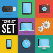 Technology Devices Clip Art.