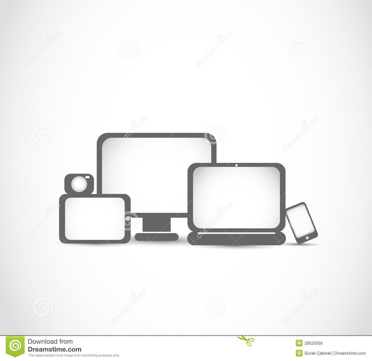Electronic Devices New Technology Concept Royalty Free Stock Image.