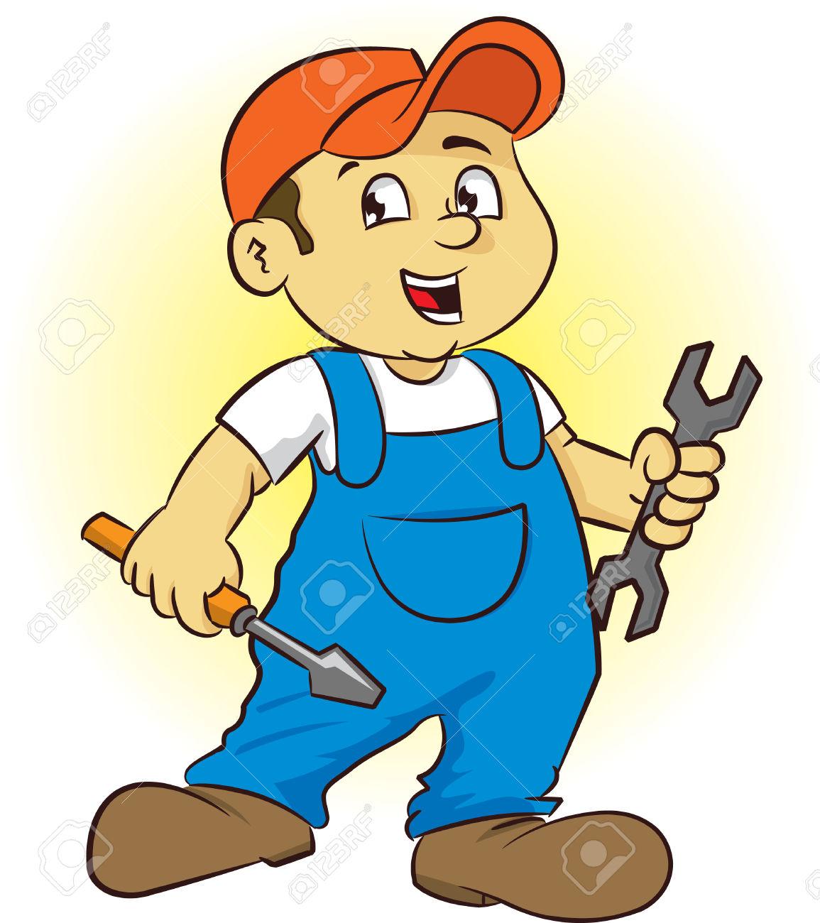Service Technician Clipart.