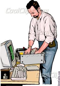Computer technician Vector Clip art.