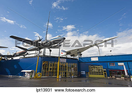 Stock Photography of AIRPLANES AT AUTO AND TECHNIK MUSEUM SINSHEIM.