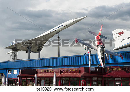 Stock Photo of CONCORDE SUPERSONIC AIRPLANE AND AERO L.