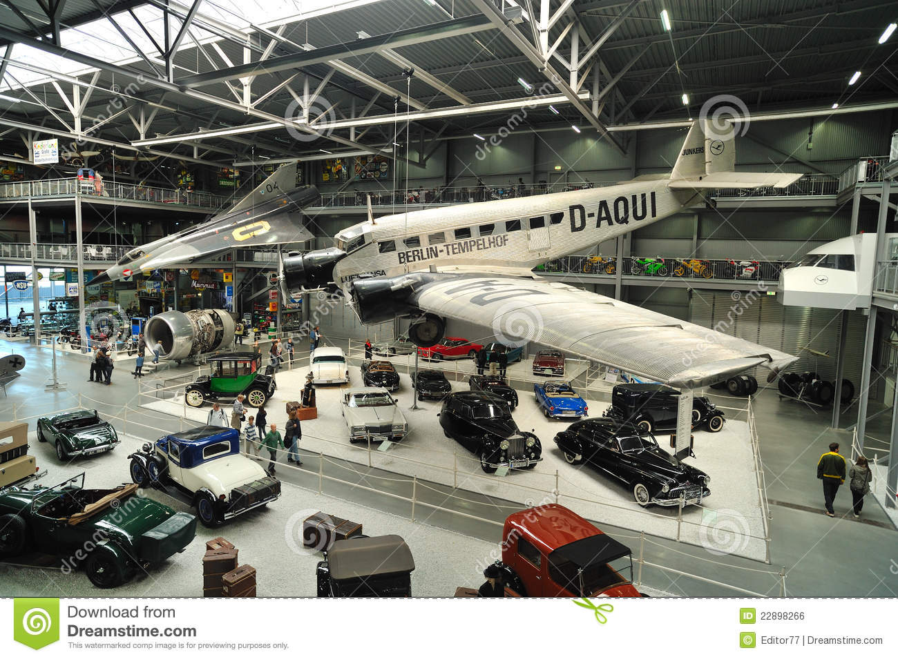 Old Vintage Cars Inside Technical Museum Speyer Editorial Photo.