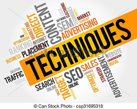 Clipart of Techniques word cloud, business concept csp31695318.