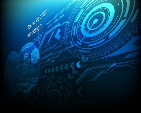 Blue Techno Background Clipart Picture Free Download.
