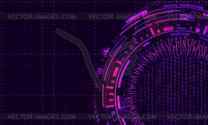 Futuristic HUD Elements Design, Techno Background.