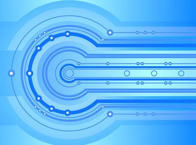Blue Abstract Techno Background Clipart Picture.