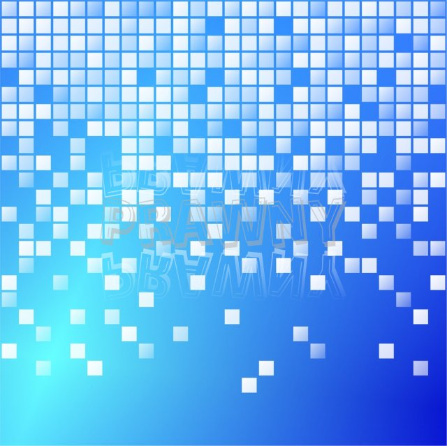 Blue Modern Techno Digital Pixel Pattern Prawny Clip Art.
