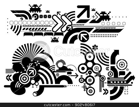 Techno elemetnts 412 stock vector.