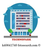 Technopark Clipart Illustrations. 4 technopark clip art vector EPS.