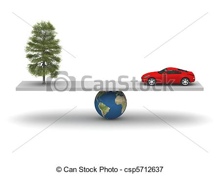 Stock Illustrations of Balance of Nature and Technology csp5712637.