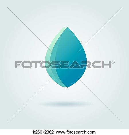 Clipart of Vector logo design template. Abstract blue water drop.