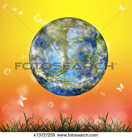 Stock Illustration of Geo climate technology.Nature k13727259.