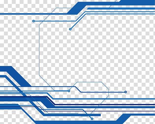Technology Euclidean , Blue Line border, blue lines.
