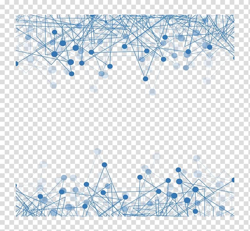 Technology Euclidean , Blue technology border, blue.