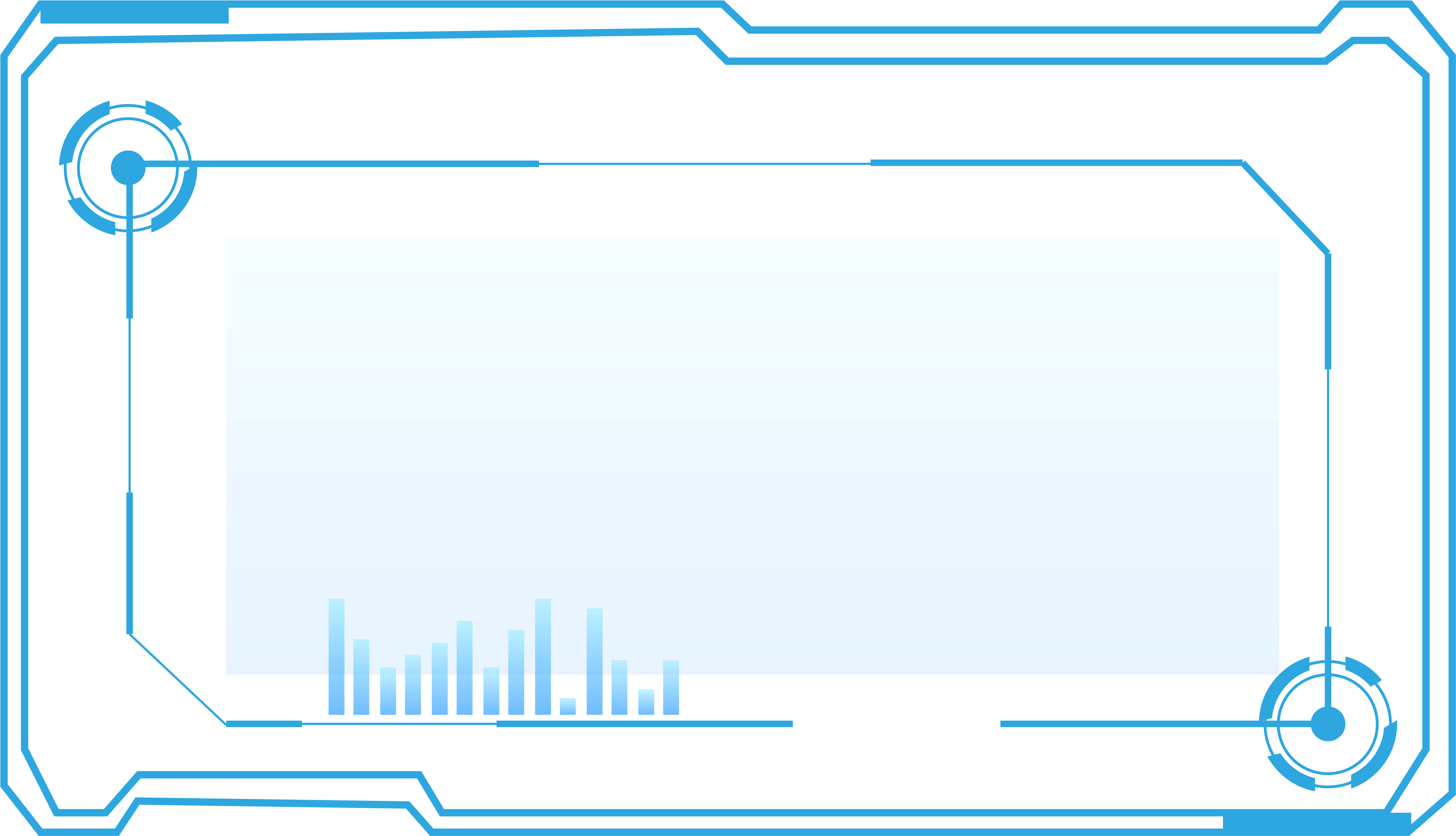 Technology Border Blue Future Png And Vector Image.