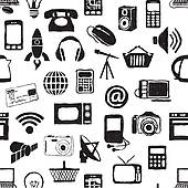 Technology Clipart Black And White.