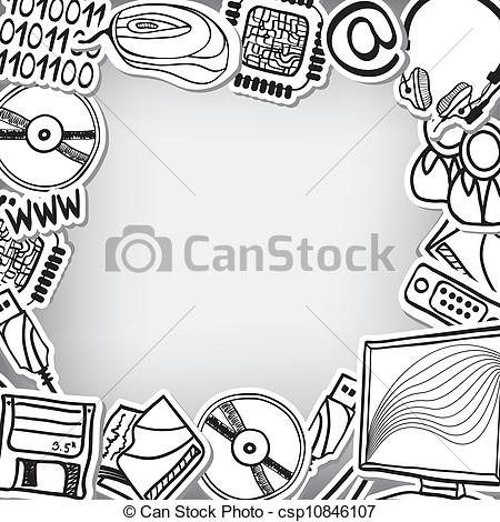 Technology Clip Art Border Pictures to Pin on Pinterest.