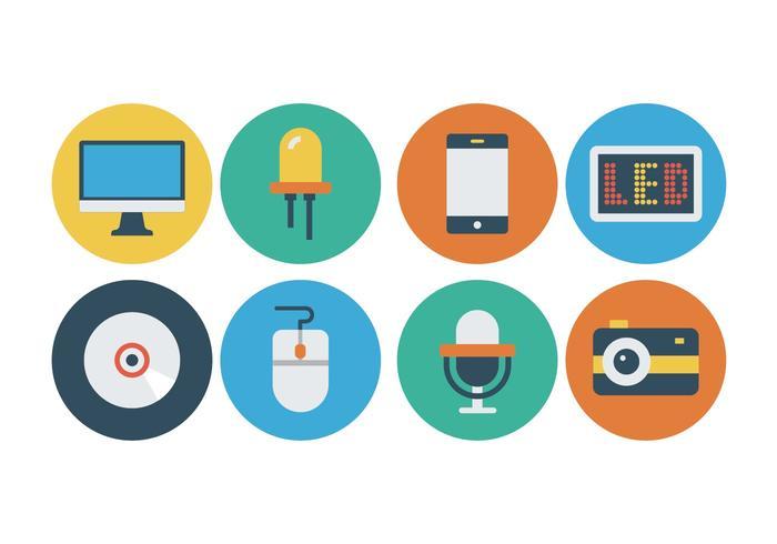 Free Flat Technology Icons.