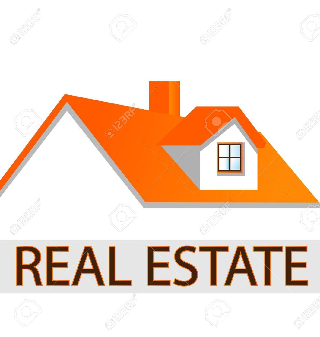 Casa Logo Techo Para Empresas Inmobiliarias Ilustraciones.