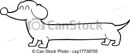 Vector Clipart of cartoon dachshund csp17738705.