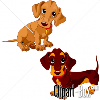 CLIPART TECKEL DOGS.