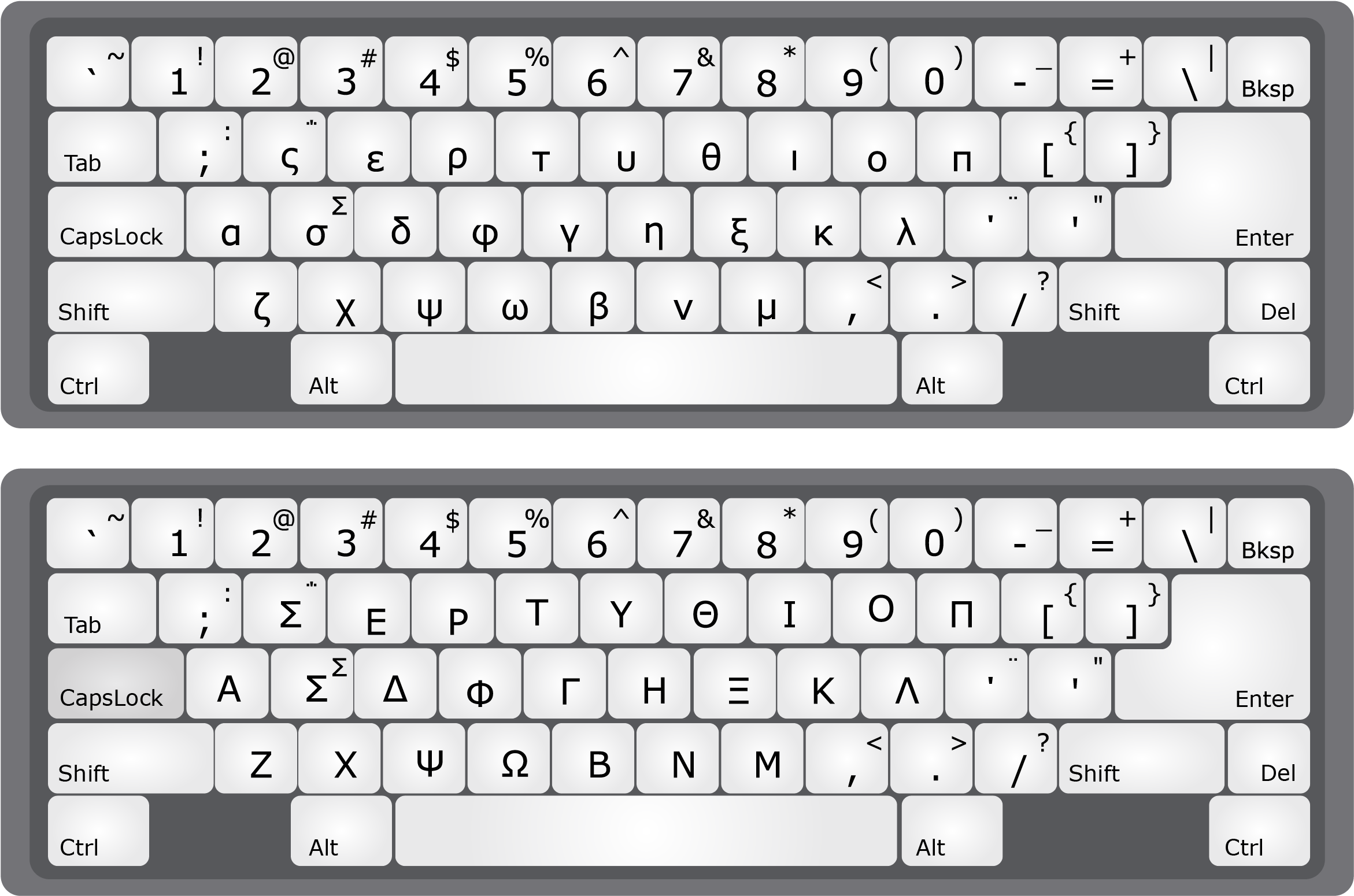 Greek Alphabet Keyboard Letter.