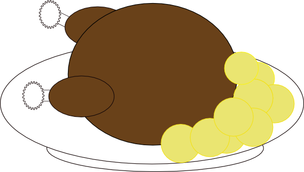 Stuffed Turkey Clipart.
