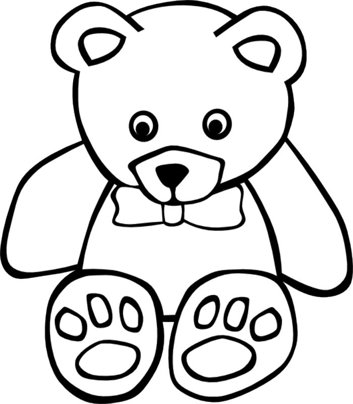 Free Teddy Bear Black And White, Download Free Clip Art.