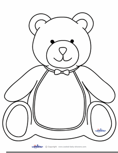 Teddy Bear Black And White Clipart.