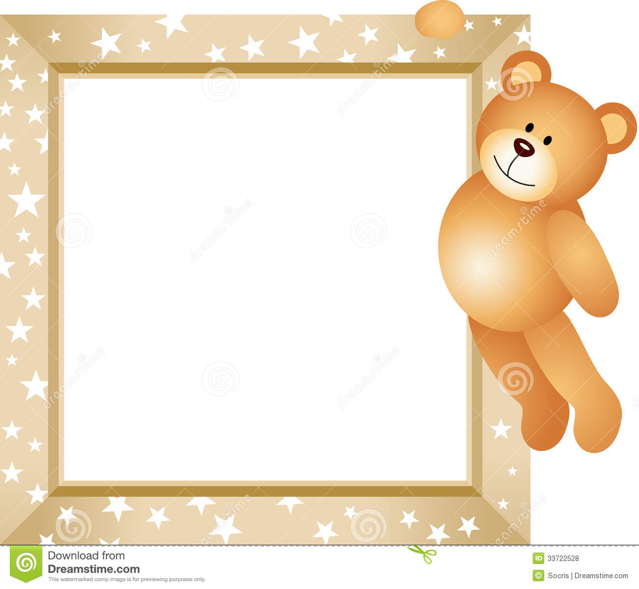 Bear Hanging in the Frame.