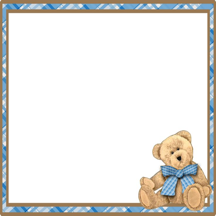 Teddy Bear Frame Clipart.