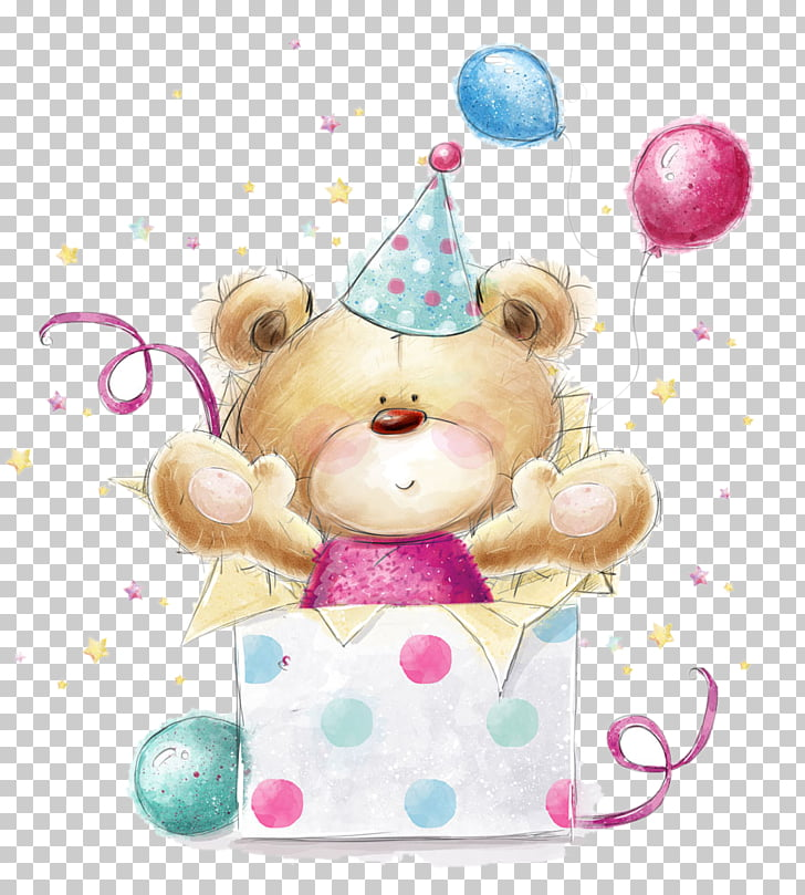 Teddy bear Greeting card Stock photography Birthday, Bear.