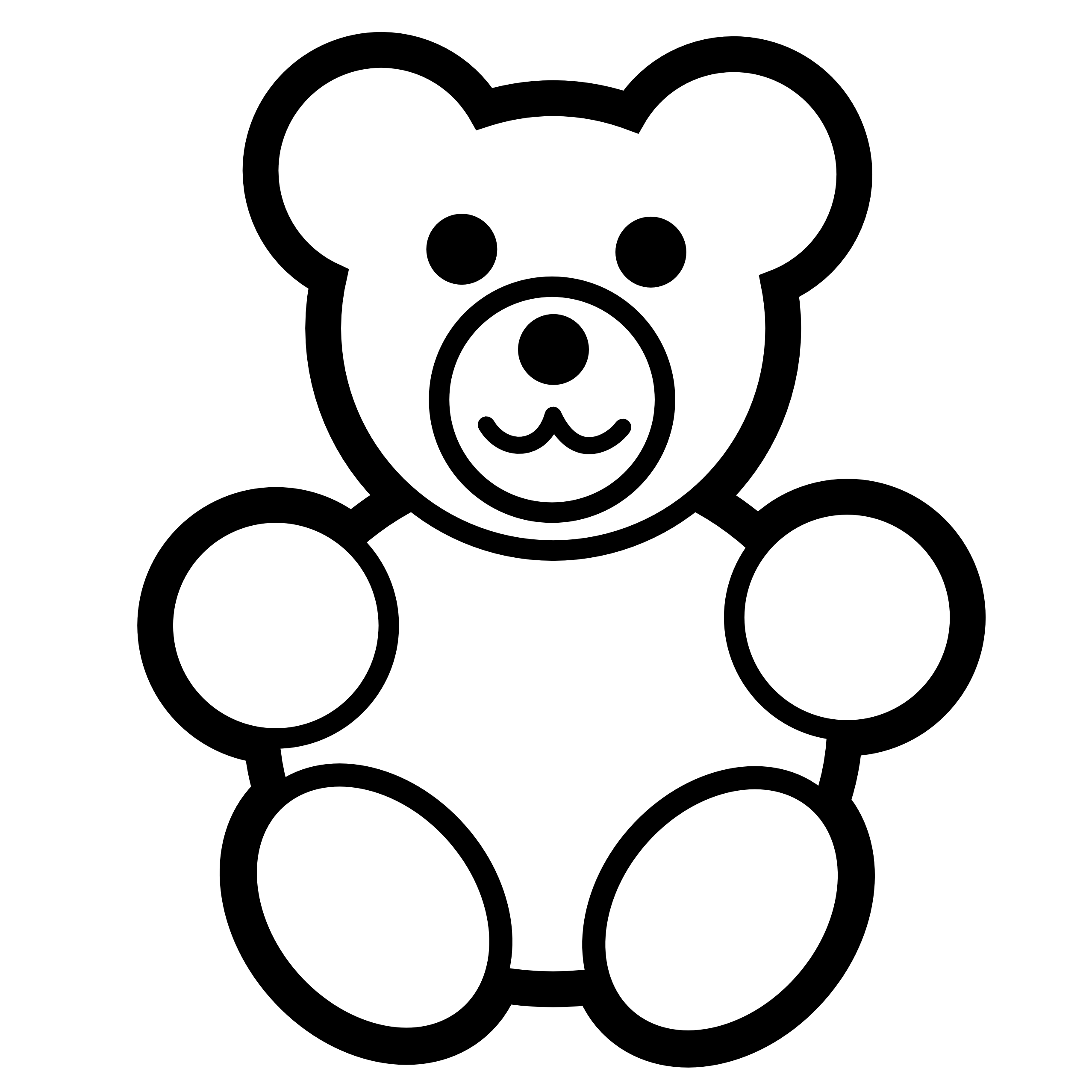 Teddy Bear Outline Clipart.