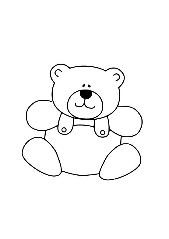 Teddy bear black and white teddy bear clipart black and.