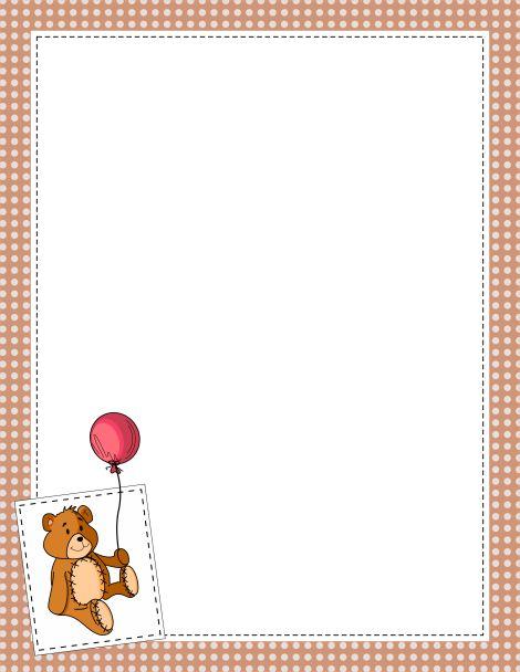 Cute Bear Clipart Border.