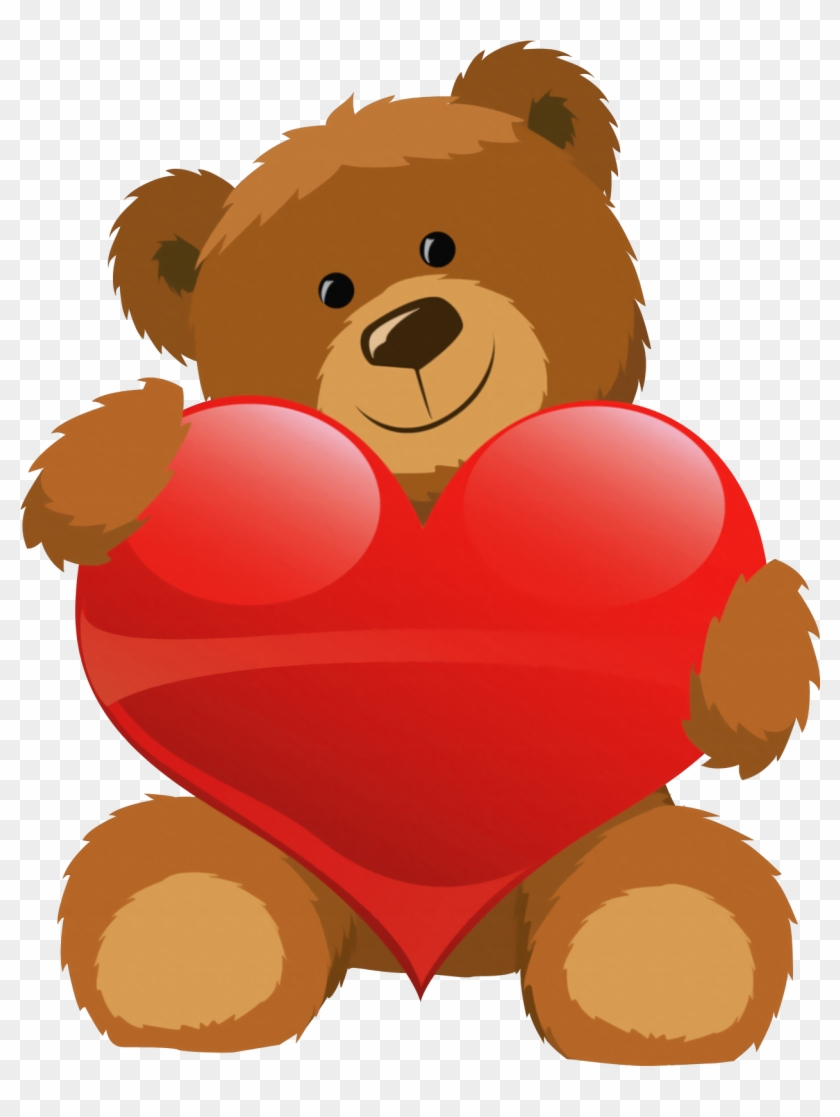 Cute Grizzly Bear Clipart Cute Bear With Heart Png.