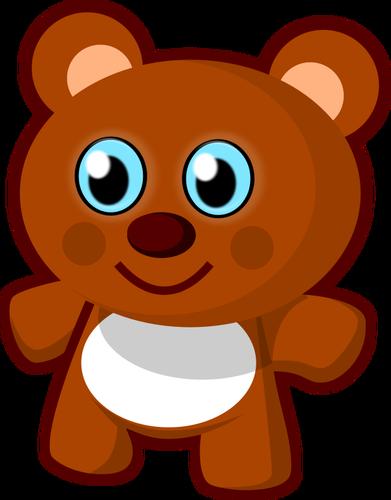 Teddy bear toy vector clip art.