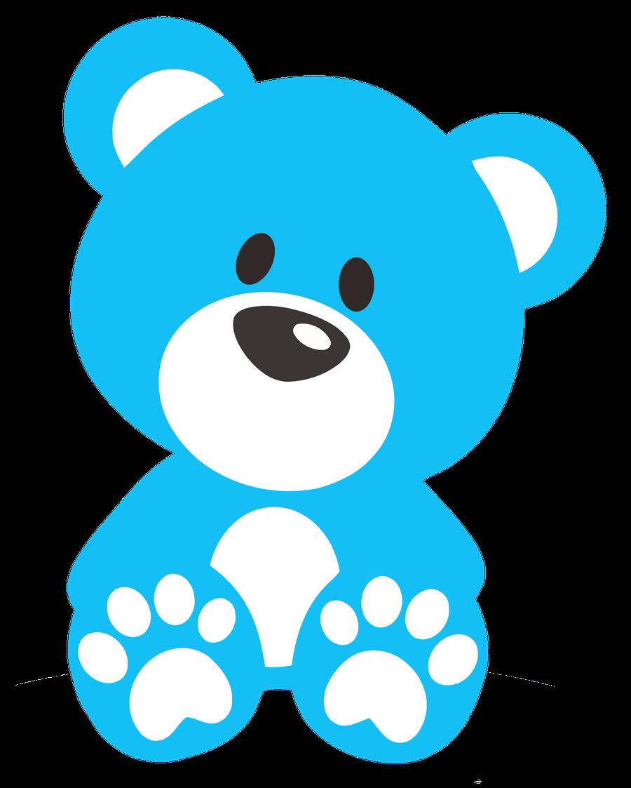 Blue Teddy Clipart.