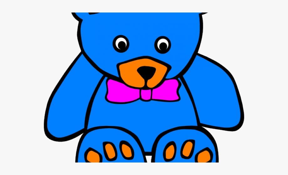 Teddy Bear Clipart Colourful.