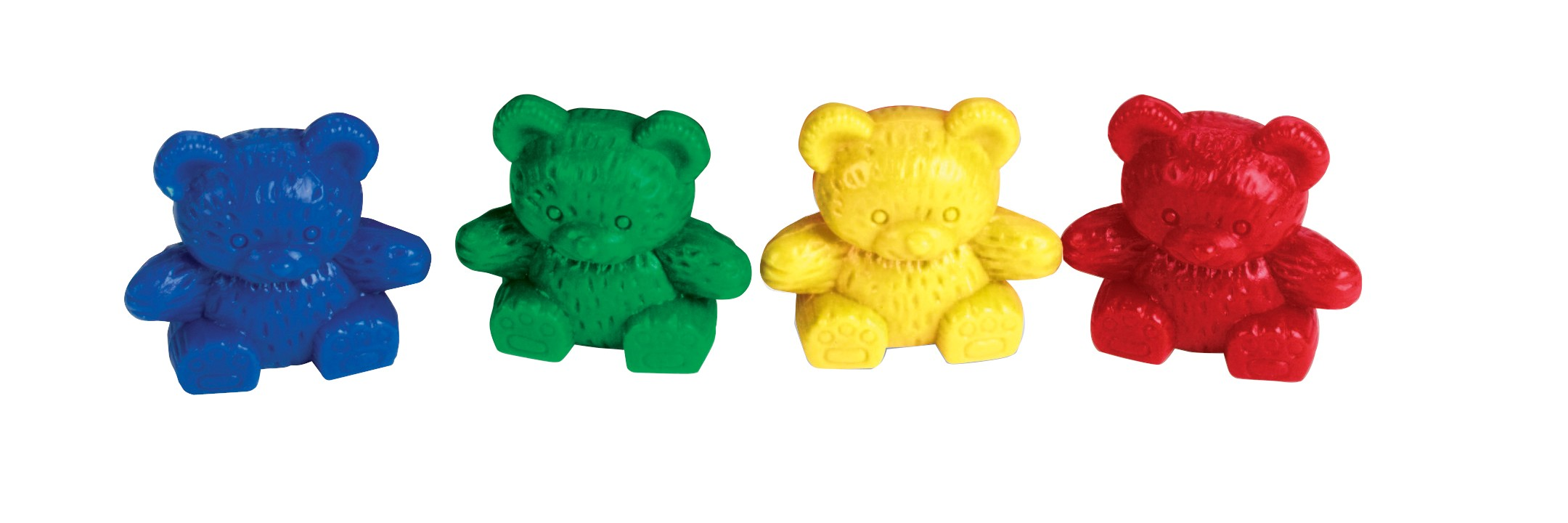 Counters Teddy Bear Set Of 80 4 Colours.