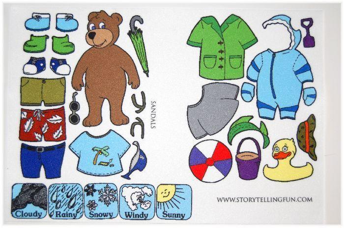 Dress Up Weather Bear Printables.