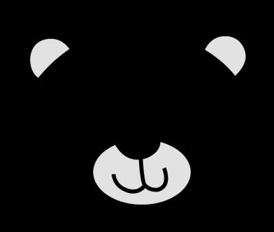 Polar bear clip art black and white free clipart 2.