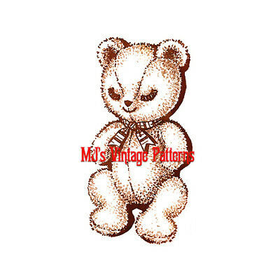 GREAT BIG Teddy Bear Vintage Stuffed Animal Toy Pattern ~ 32\